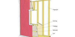 Uppföra enkel yttervägg i trä