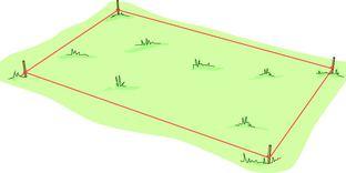Trädäck på plan mark